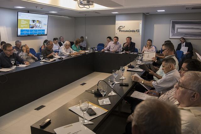 Sistema Fecomércio realiza reunião de diretoria e recebe vice-prefeito, Moroni Torgan