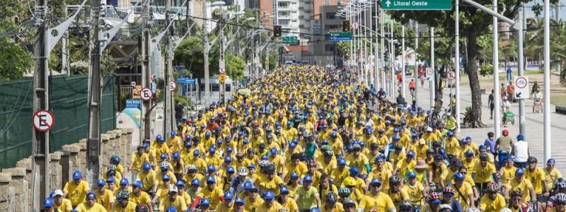 Inscreva-se no passeio ciclístico que reúne milhares de pessoas em todo o Ceará