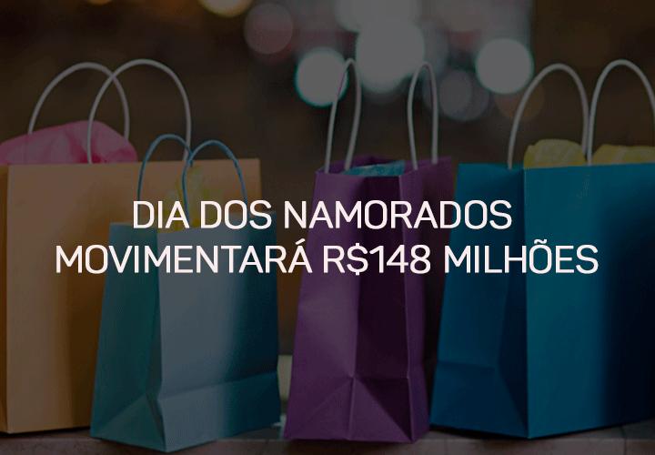 Dia dos Namorados movimentará R$148 Milhões
