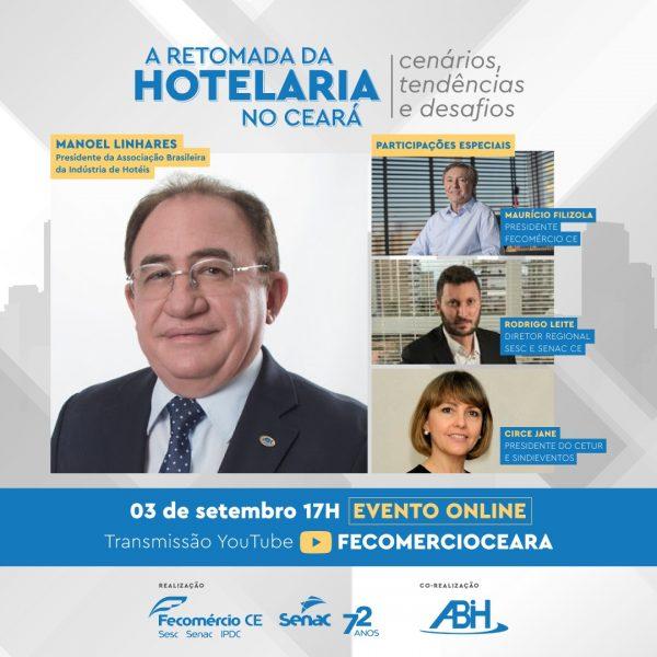 Webinar promovido pela Fecomércio debate retomada da hotelaria